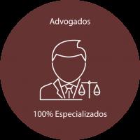 100% de advogados especializados